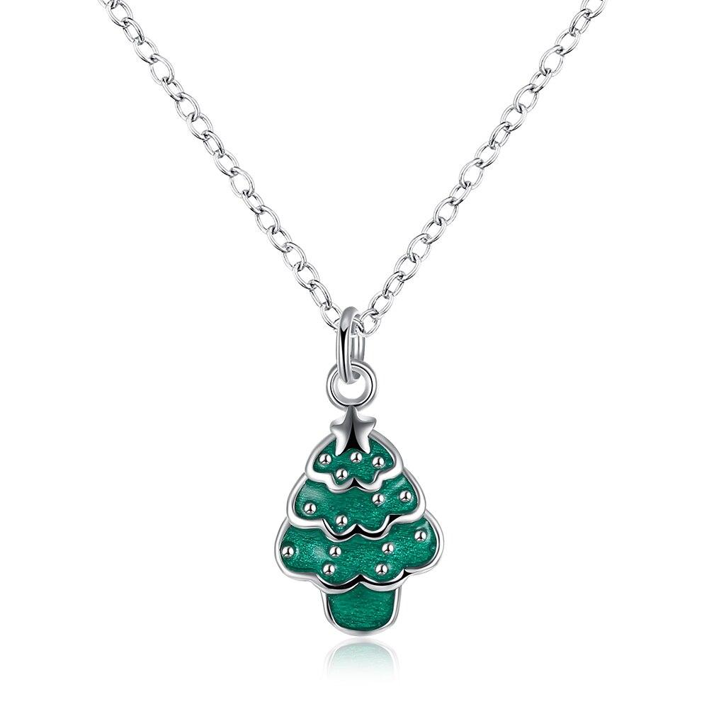 eeb6e829adab Lureme классический посеребренные изделия Рождество дерева кулон Цепочки и  ожерелья для Для женщин девочек 3 цвета (nl004311)