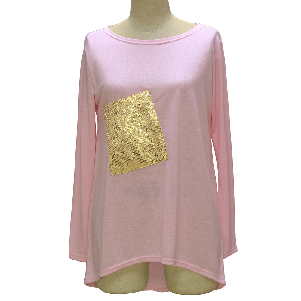 Lady Autumn Long Sleeve Tee Shirt Fashion T shirt Top Sequin Party Gift -in  T-Shirts from Women s Clothing on Aliexpress.com  ebe1dc257ef3