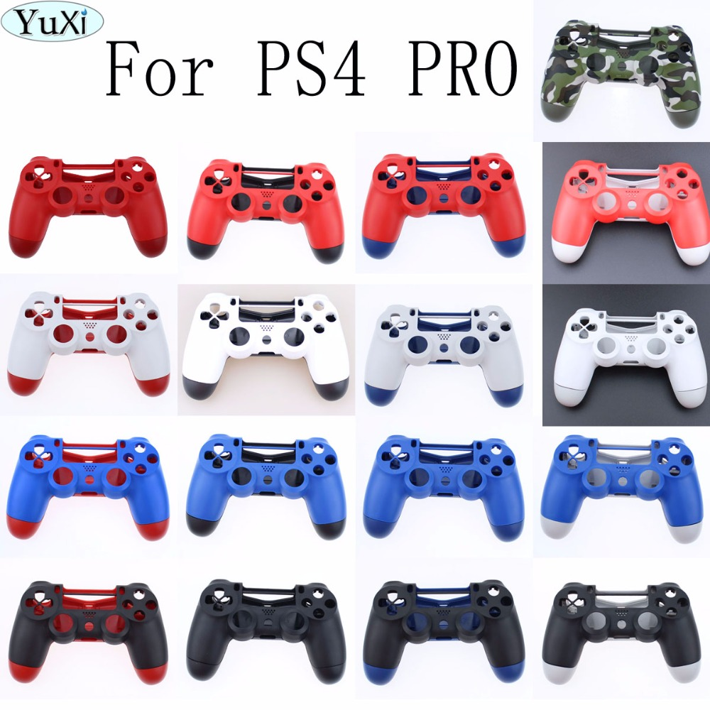for Sony PS4 Pro Wireless Dualshock 4 Pro Controller JDS040 Cover Front Back Hard Plastic Upper Housing Shell Case