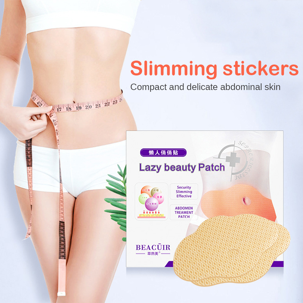 5Pcs Lazy Beauty Patch Quick Slimming Patch Belly Slim Patch Abdomen Fat Burning Navel Stick For Weight Loss
