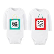 Culbutomind Twins Infant One Piece Body Suit Buy One Get One Free Spring Autumn Summer Long Sleeve Baby Jumpsuit Underwear
