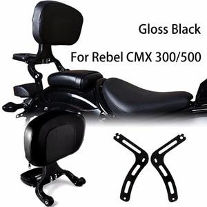 Image 1 - Gloss Black Fixed Mount&Driver Passenger Backrest For Honda 2017 2020 Rebel CMX 300 500 Models