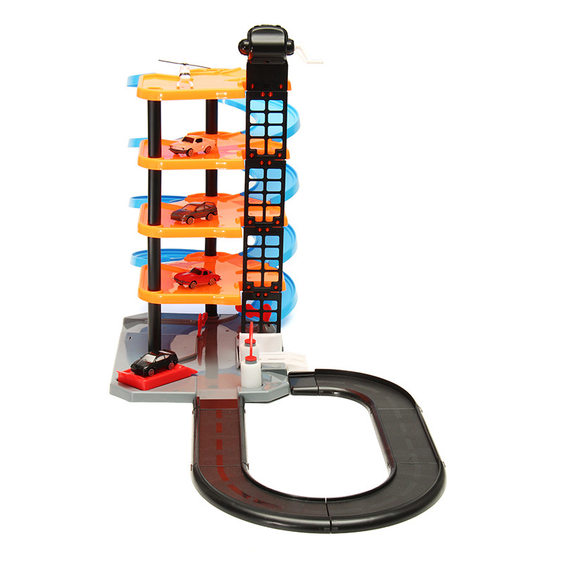 DIY Track Racing Lane 3D Parking Mount Railroad Rail Car Slot Model Toys For Kids Children Gift