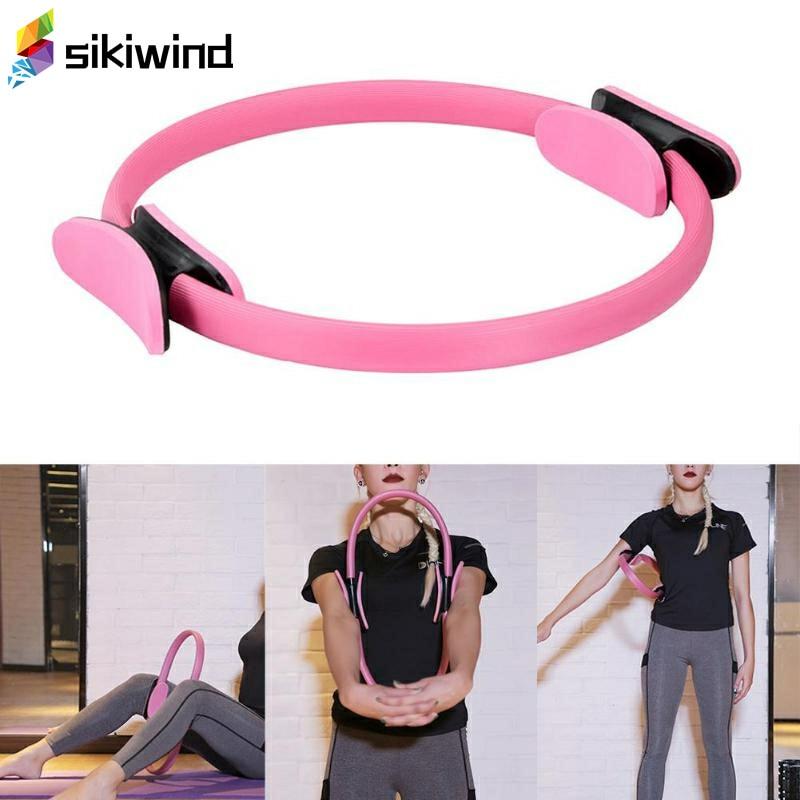 <+>  Тренировка для мышц с двойным захватом йога пилатес кольцо волшебный круг мышц упражнения для тела й ✔