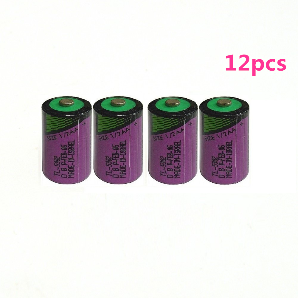 12pcs/lot New high quality TL-5902 <font><b>1</b></font> / 2AA ER14250 SL350 <font><b>3.6V</b></font> <font><b>1</b></font>/<font><b>2</b></font> <font><b>AA</b></font> PLC <font><b>lithium</b></font> <font><b>battery</b></font> image