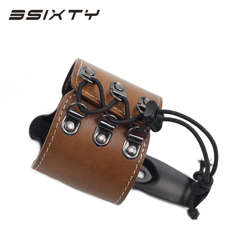 3SIXTY Bike Genuine Leather Water Bottle cage Holder for Brompton Road Bike 80g brompton stickers
