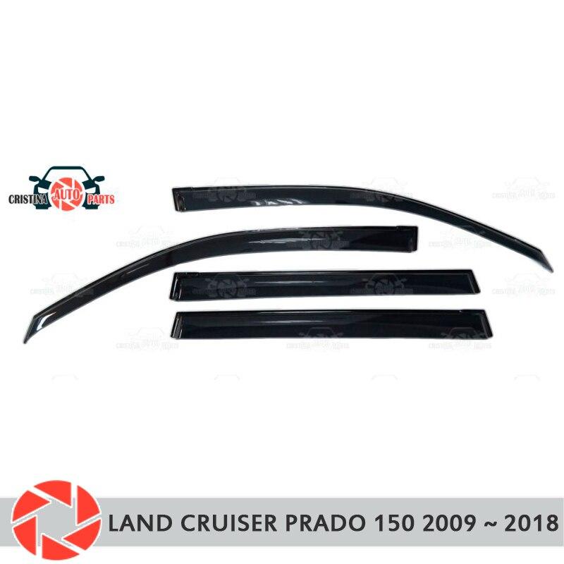 Déflecteur de fenêtre pour Toyota Land Cruiser Prado 150 2009 ~ 2018 déflecteur de pluie saleté voiture style décoration accessoires moulage
