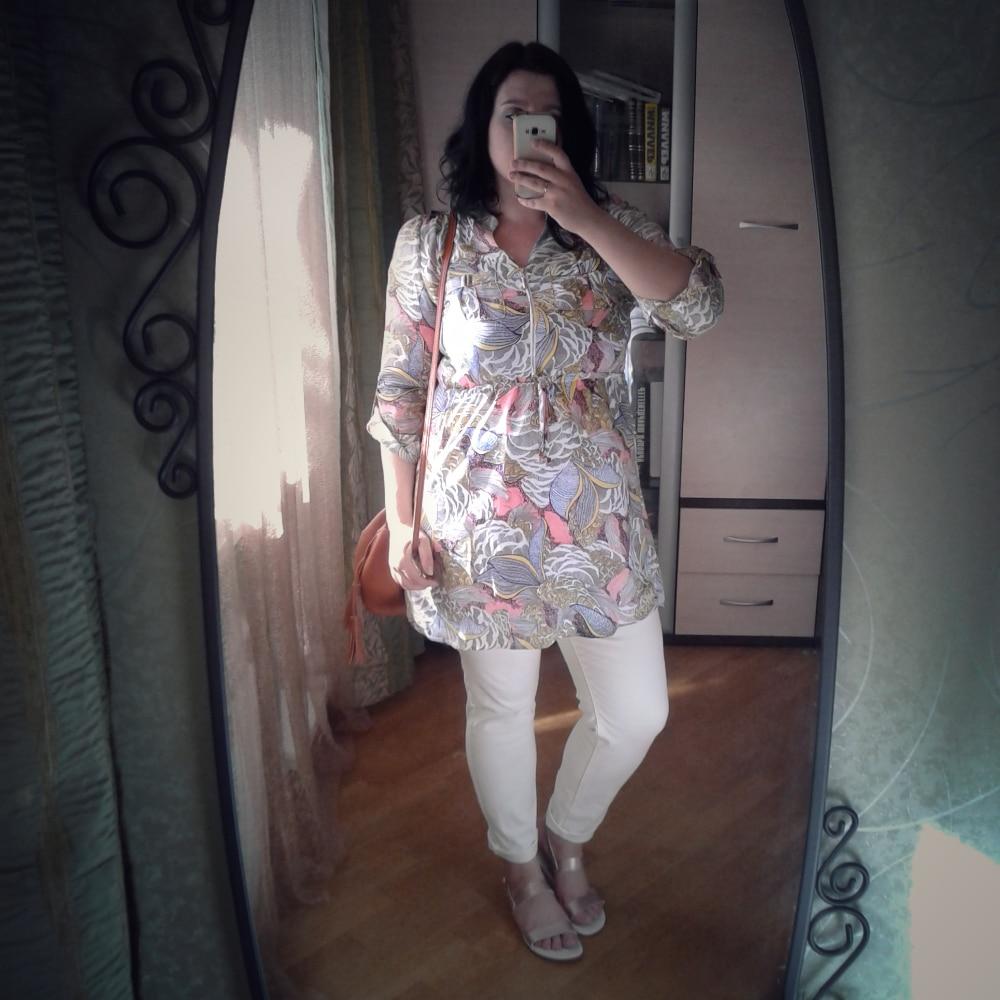 Платье-рубашка большого размера с Алиэкспресс