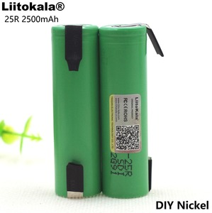 Image 2 - 3PCS Liitokala 18650 25R 2500mAh lithium battery 20A continuous discharge power electronic battery for +DIY Nickel sheets
