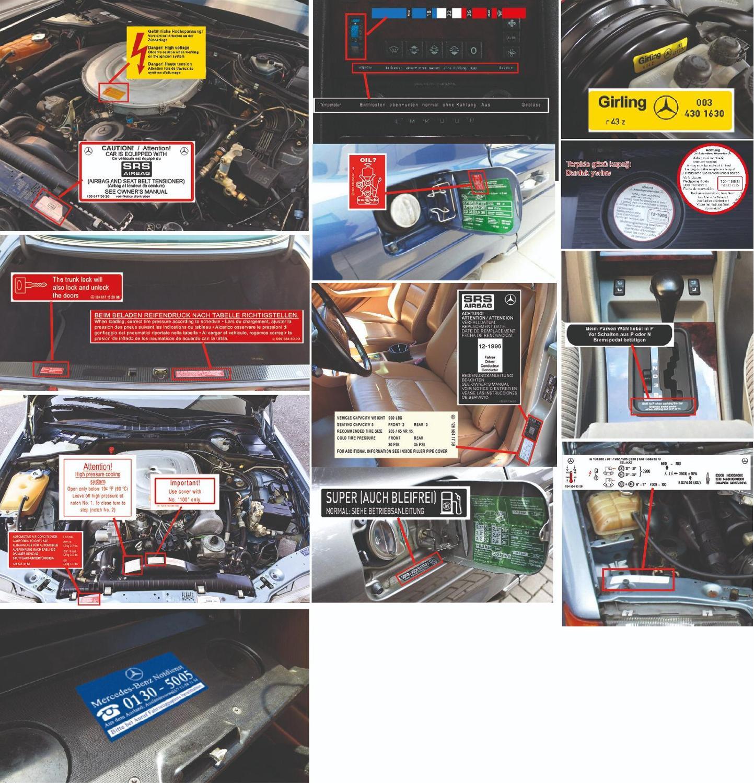 Mercedes W126 Sunroof Seal Kit 280S 280SE 380SE 300SD 260SE 300SE 420SE 500SE