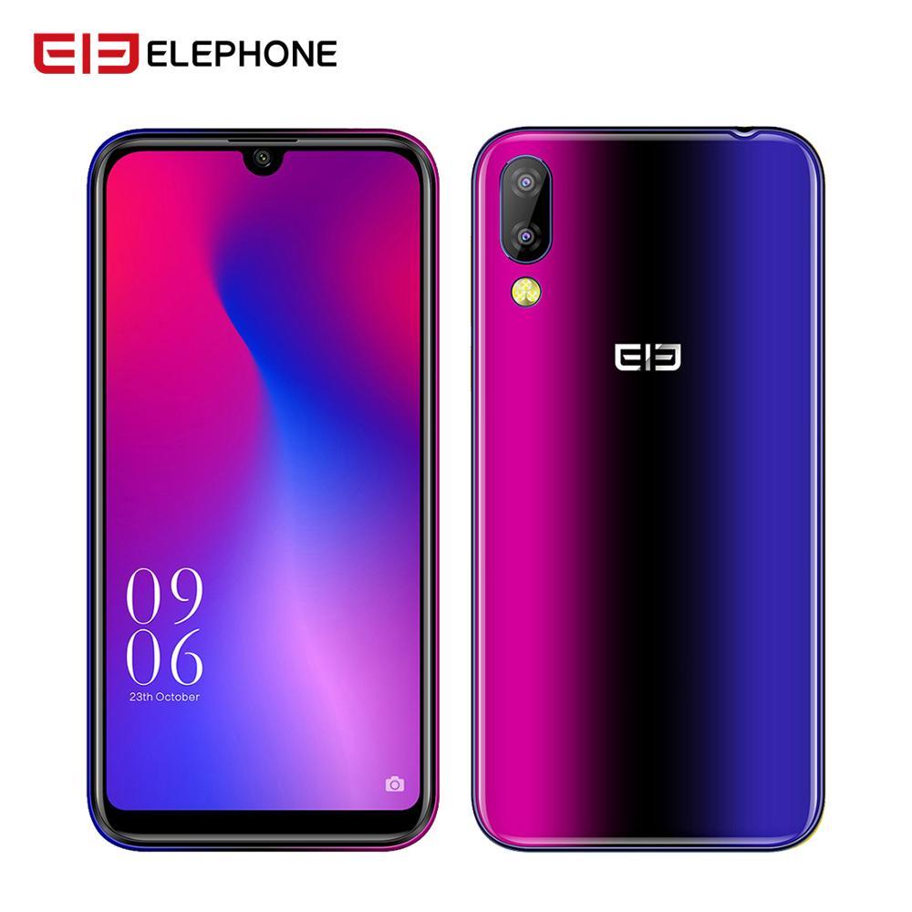 Téléphone portable Elephone A6 Mini 4 GB 64 GB 5.71 pouces téléphone portable écran goutte d'eau Android 9.0 MT6761 Quad Core HD + 16MP 3180 mah 4G Smartphone