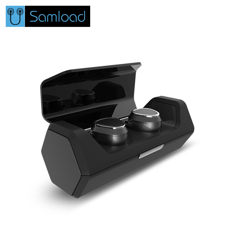 Samload Bluetooth Earphones Sport True Wireless Double-Ear TWS Stereo Earbuds Headset with Microphone for all mobile phone tws mini bluetooth earphones earbuds true wireless double ear earhook stereo headset for iphone 7 7s xiaomi lg