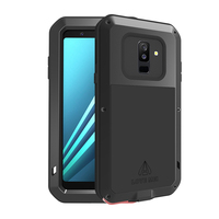 Metal Case For Samsung Galaxy A6 2018 Shockproof Full Body Protective Cases Gorilla Glass Screen Armor For Samsung A6 Plus 2018
