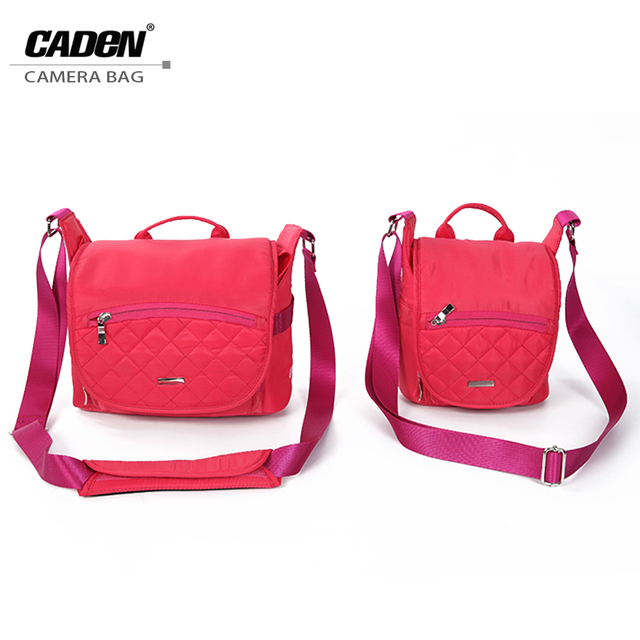 Cute SLR Camera Shoulder Bags Video Photo Digital DSLR Backpack Rose Red  Women Camera Bag for