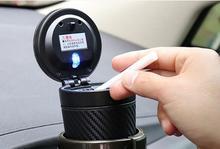 zonne energie auto asbak rookloze met led verlichting multifunctionele mini leuke draagbare auto