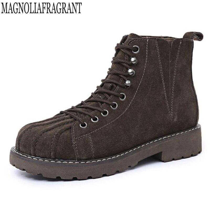 ファッションの女性のブーツ秋冬ブーツクラシックレース足首砂砂状の暖かい本革の女性の靴 c265  グループ上の 靴 からの アンクルブーツ の中 1