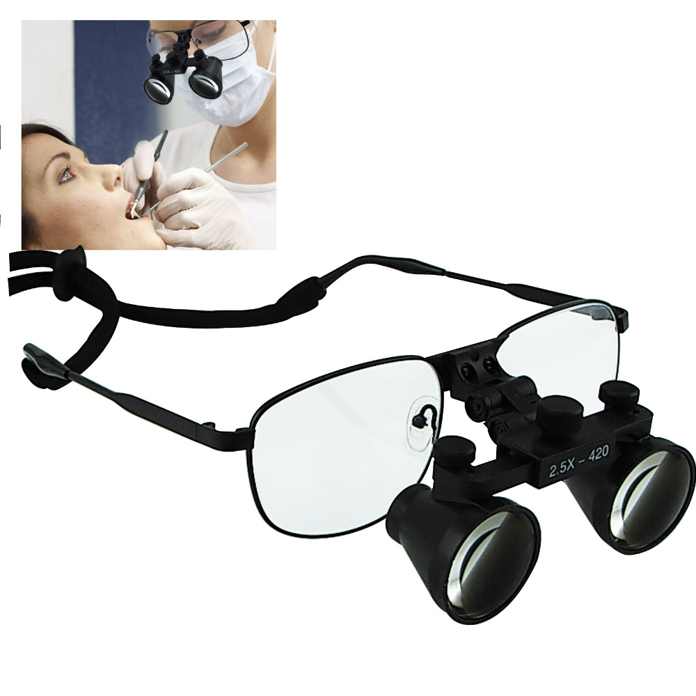 2 5x 3 5x 4 0x 6 0x Magnification Power Dental Loupes Surgical Dentistry Galilean Keplerian