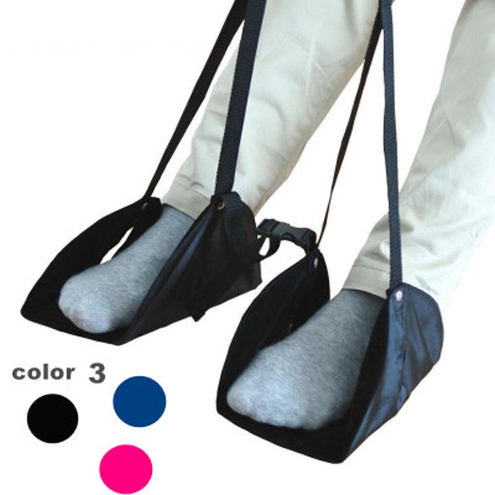 2 Stks/set Mode Draagbare Voeten Hangmat Rest Voet Stoel Care Tool Katoen Gebreide Footrest Vlucht Handbagage Voet Hangmat Rest Cot