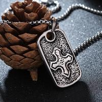 Nhỏ cross trong big retangle mặt dây chuyền vòng cổ làm bằng thép không gỉ thời trang vòng cổ đẹp cho cô gái jewelry