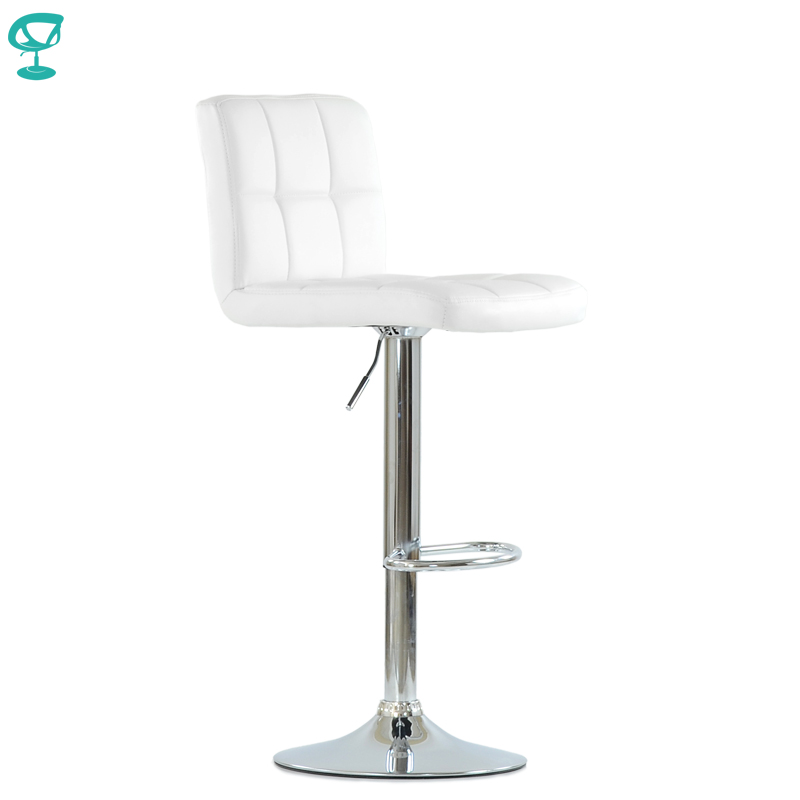 N47CrPuWhite Barneo N-47 PU Leather Kitchen Breakfast Bar Stool Swivel Bar Chair White Color Free Shipping In Russia