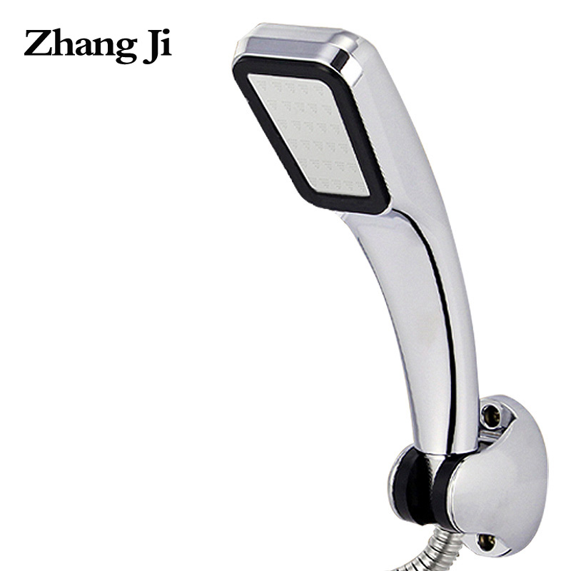 ZHANGJI Water Saving High Pressure Shower Head Hand Hold 300 Holes Square Bathroom Accessory Chrome ABS Shower Heads ZJ277