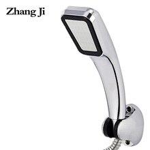 ZHANGJI Water Saving High Pressure Shower Head Hand Hold 300 holes Square Bathroom Accessory Chrome ABS Shower Heads ZJ277