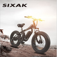 SIXAK20 inch small dolphin aluminum frame electric snow car, 21 speed electric bicycle fat tire mountain bike LCD monitor
