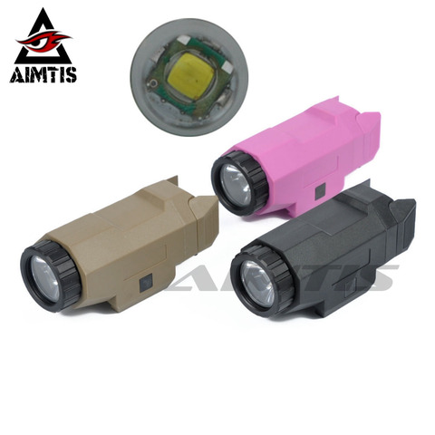 aimtis tatico compacto apl glock pistola luz constante strobe lanterna led luz branca para glock