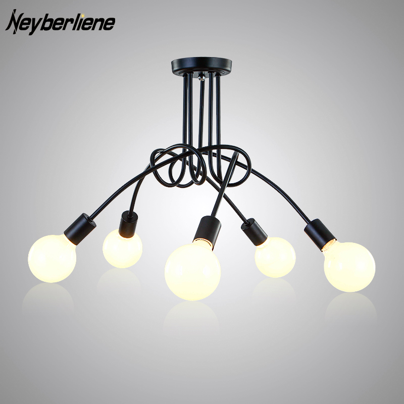 LED Ceiling Lights Luminaria Ceiling Light Lamp Fixtures Lustre Luminaire Vintage Lamps For Living Room Home Lighting Fixture 3 head acrylic shade kids room wooden children ceiling lights led e27 bulb 110v 220v led ceiling light fixtures lustre luminaire