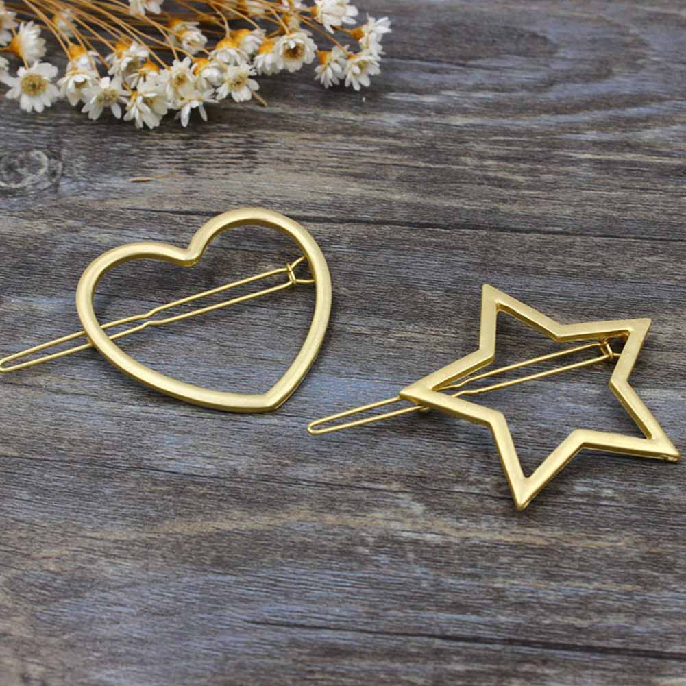 1 pc Women Girls Star Heart Hair Clips Lovely Metal Hairpins Hair Accessories Hairband Hair holder Hair Chopsticks