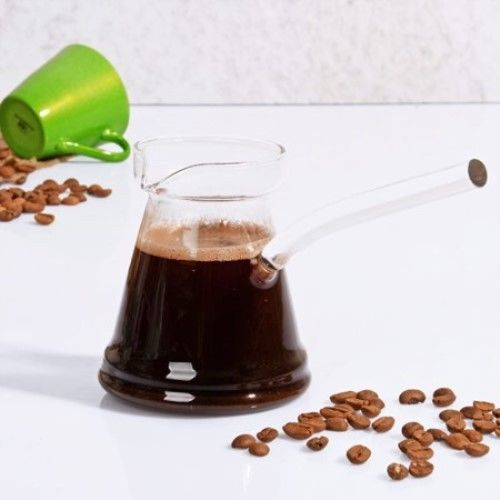 Acier Inoxydable Cezve Turkish Coffee Pot ibrik vintage jazzva Briki 350 ml