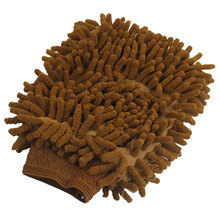 UXCELL guante para lavar de felpilla, manopla de microfibra para el hogar, la cocina y el coche, color marrón