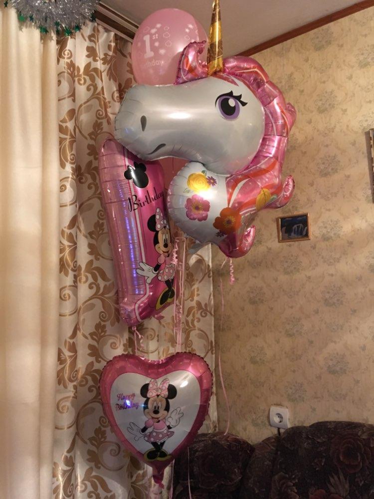 Giant Size 116cm Rainbow Unicorn Foil Balloons photo review