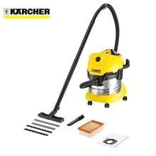 Пылесос для сухой и влажной уборки KARCHER WD 4 Premium (Мощность 1000 Вт, фильтр тонкой очистки, объём пылесборника20 л, крепление насадок на корпусе, отсек для сетевого шнура)