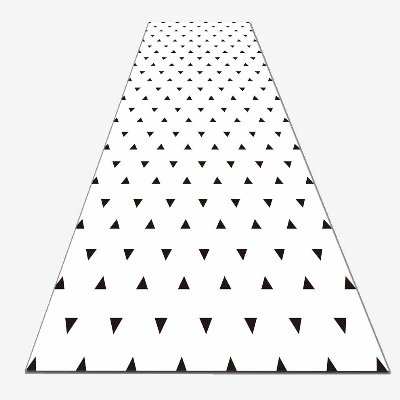 Else White Floor Black Triangles Geometrics 3d Print Non Slip Microfiber Washable Long Runner Mat Floor Mat Rugs Hallway Carpets