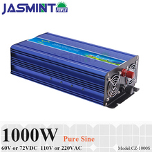 цена на 1000W Off Grid Inverter for 60V/72VDC Battery, Surge Power 2000W Pure Sine Wave Inverter Supply power to 110V/220VAC Applianeces