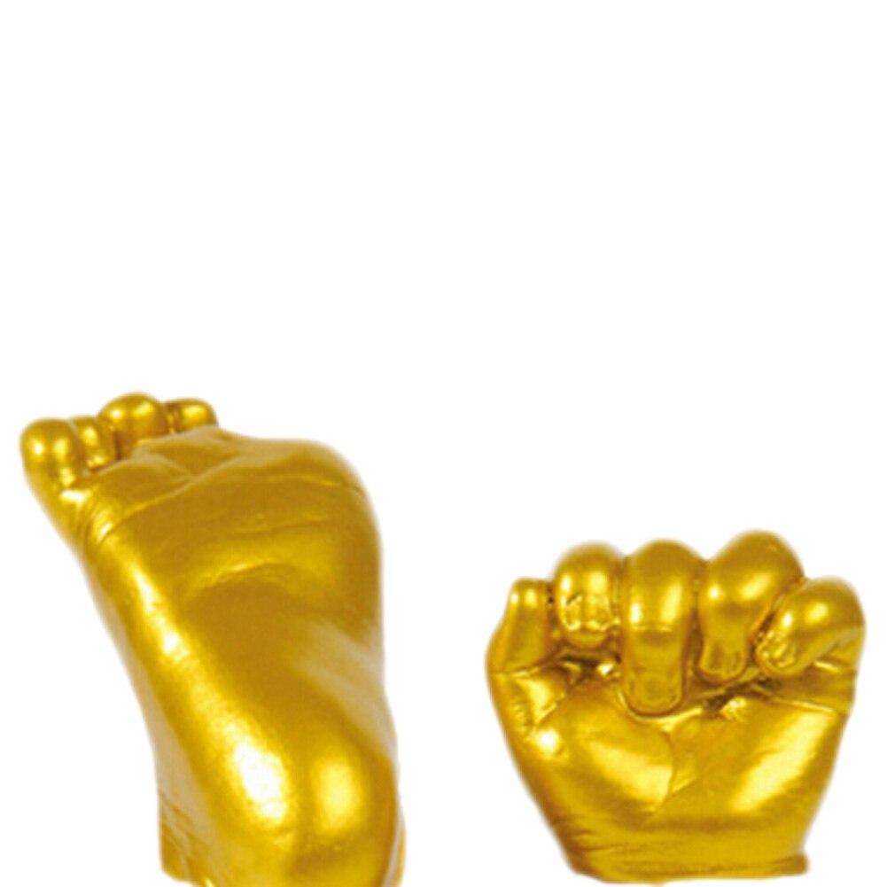 High Quality 3D Plaster Handprints Footprints font b Baby b font Hand Foot Casting Mini Kit