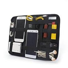 Малый Размеры Лофт двухсторонней Кабельный организатор сумка получения плиты DIY линии передачи данных гарнитуры путешествия приема цифрового доска хранения