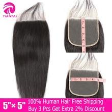дешево!  5x5 Lace Closure Straight Human Hair Closure With Baby Hair Medium Brown  HD Swiss Lace Closure Brazilian Remy Hair Three Part