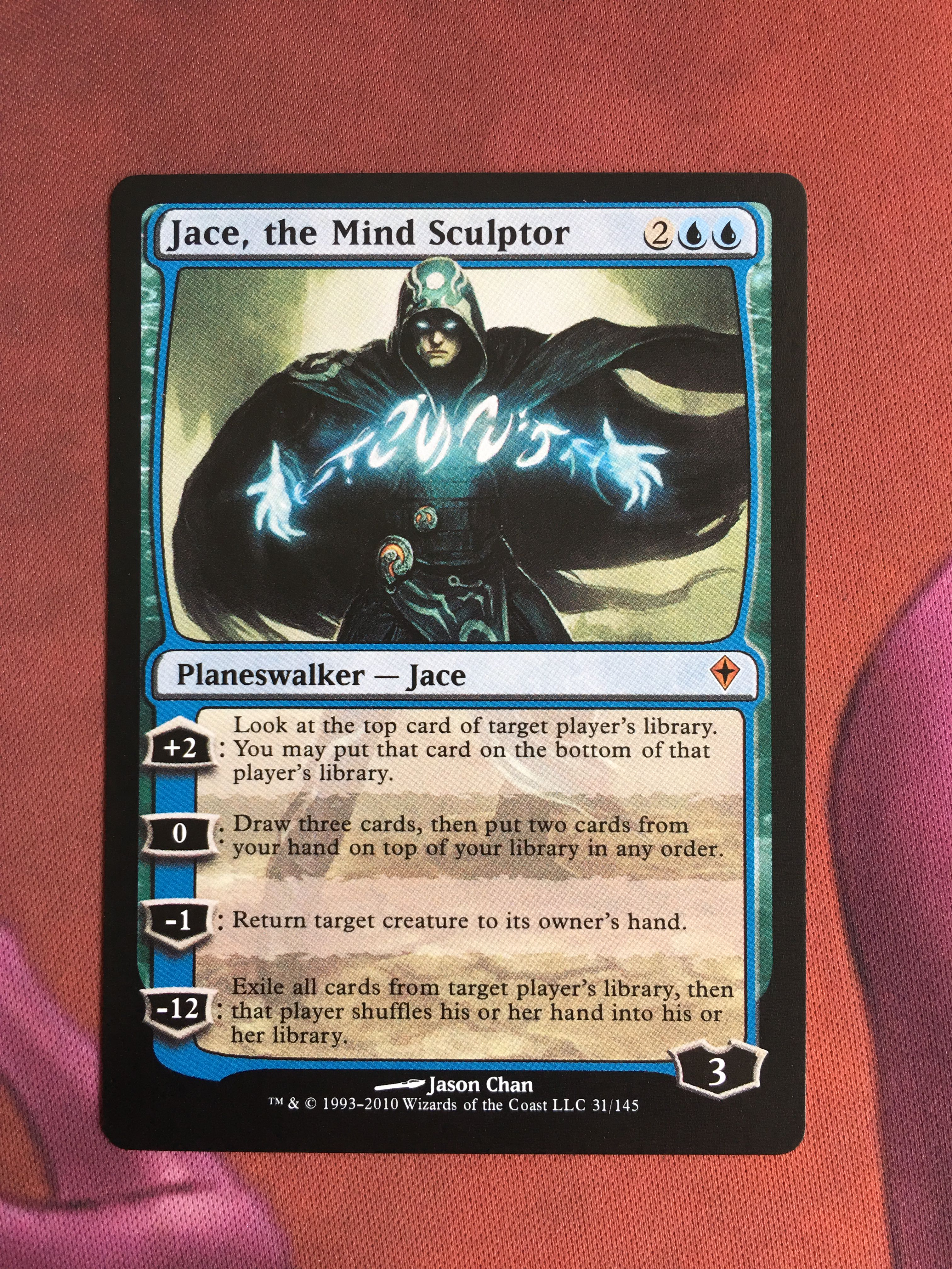 Jace, The Mind Sculptor Worldwake Magician ProxyKing 8.0 VIP The Proxy Cards To Gathering Every Single Mg Card.