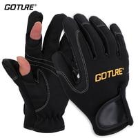Goture Men Fishing Gloves Full Half Finger Outdoor Winter Gloves Cycling Bike Glove Fishing Tackle Black Or Blue