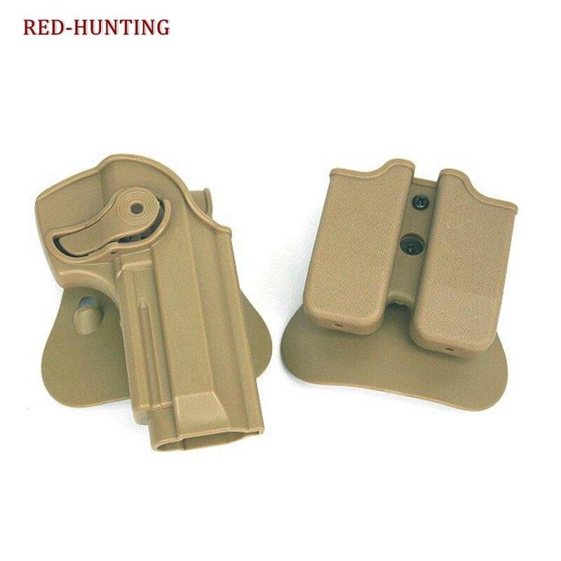 Retenção tática girar coldre de pistola para beretta 92 96 m9 w/compartimento bolsa