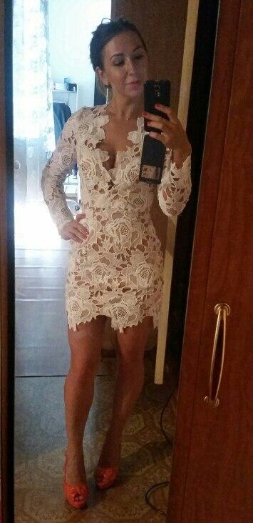 'Make Me Foxy' White Lace Dress photo review
