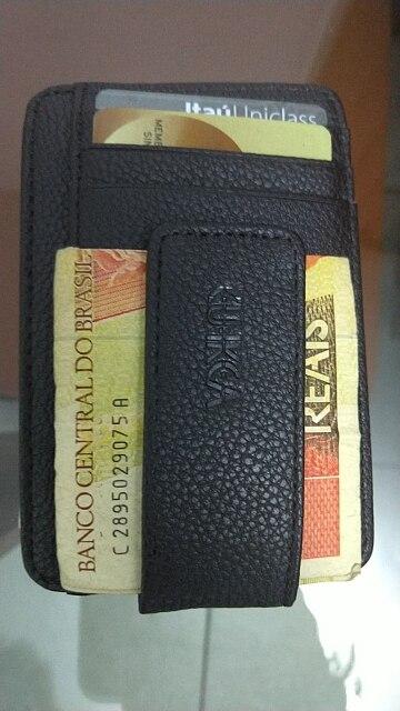 CUIKCA New Fashion Women Men Wallet Money Clip Magnet Clip Ultrathin Pocket Clamp Credit Card Case Mini Creative Wallet photo review