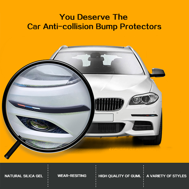 4 шт защитная полоса для автомобильного бампера