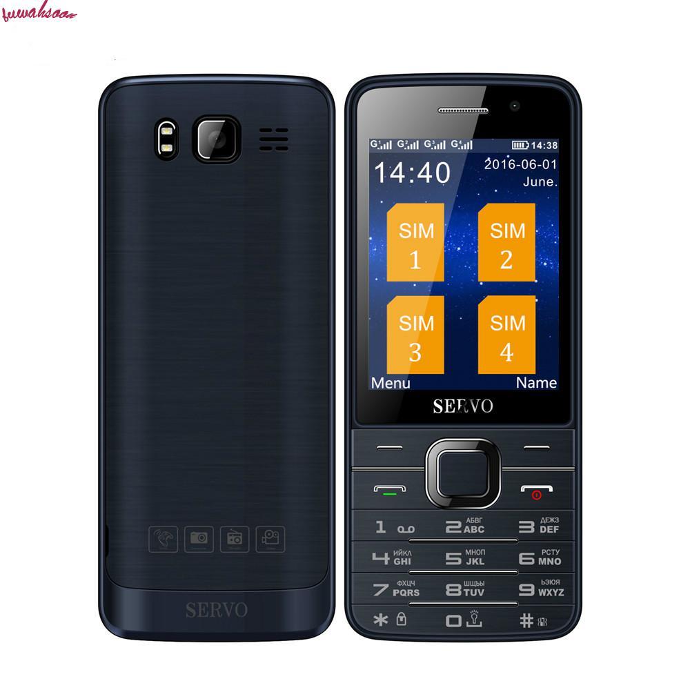 Оригинальный телефон Servo v9500 русская клавиатура Откройте мобильный телефон c четырьмя SIM картами 28 дюймовый HD большой экран двойной Камера Bluetooth купить на AliExpress