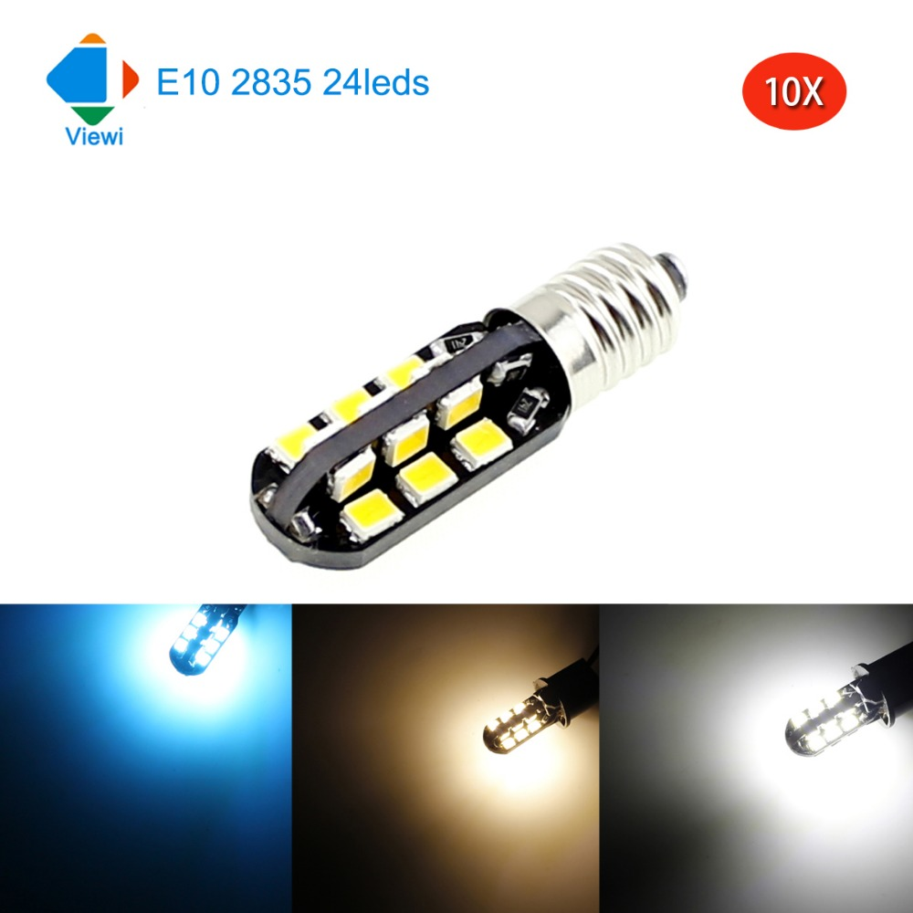 Led Lampen E10 Us 11 99 Viewi 10x Dc 12 Volt E10 Instrument Lights 2w Led Signal Light 12v Smd 2835 24 Leds Super Bright Cal Bulb Lamp In Led Bulbs Tubes From