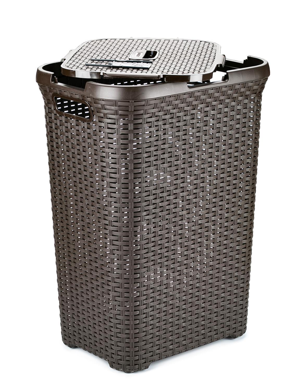 Laundry basket CURVER RATTAN STYLE 60 L dark brown 001 small twist style wig decoration hair band dark brown 0 9cm width