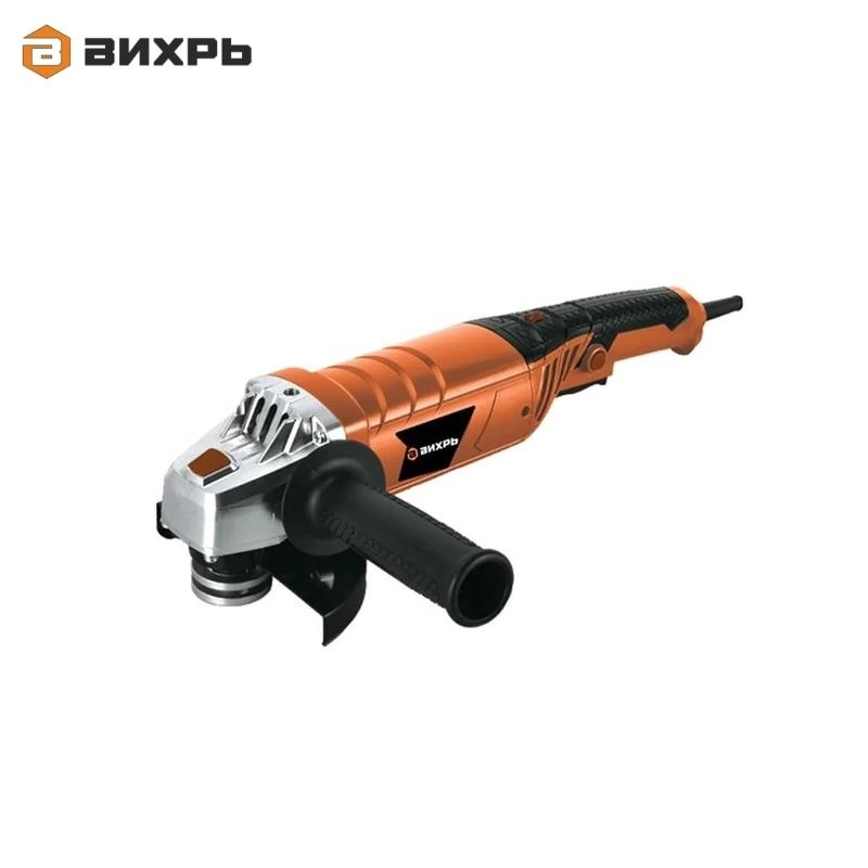 Angle grinder (bulgarian) Vihr USHM-125/1200E Electric portable grinder Angle drive grinder Hand-held grinding tool Polisher