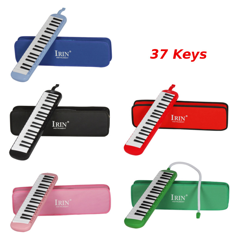 New Style 37 Piano Keys 5 Colors Melodica Musical Instrument for Music Lovers Beginners Gift with Carrying Bag 30 note xylophone piano fleet foldable glockenspiel vibraphone new music knock e piano percussion instrument and paino bag
